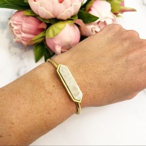 Kinsley Armelle white quartz with gold bracelet